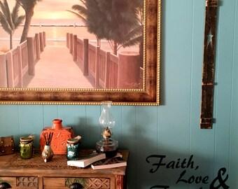 """Wall decal """"Faith, Love & Family"""", home decor, wall decor, decal, wall art, vinyl decal INDOOR"""