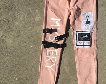Mystery Patched Denim Pants