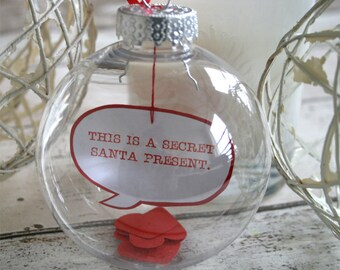 Fully Personalised Customised Message in a Bauble Christmas Decoration Christmas Ball Ornament