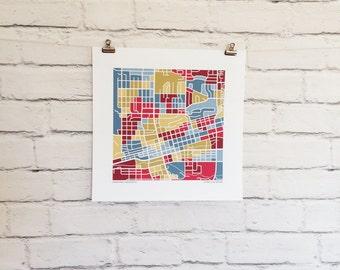 Boulder Colorado Map Print
