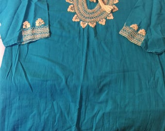 Mexican Turquoise Blouse