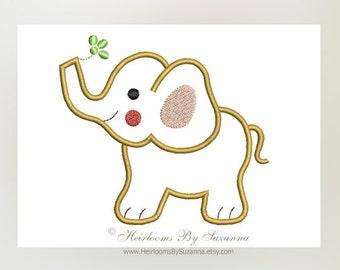 Baby Elephant Machine Applique Design - Machine Embroidery - Zoo - Nursery Design - Baby Applique - Children Design - 3 Sizes - 4x4 - 5x7