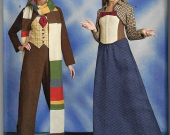 Simplicity Sewing Pattern #8200~Doctor Who  Time Traveler Cosplay Costume~2 looks~Misses Sz 6-14 or 14-22~New Uncut