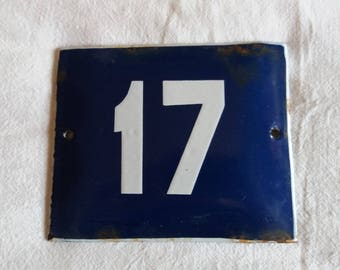 Vintage Enamel House Number - Door Sign