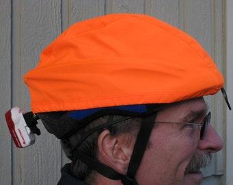 Bright Orange Bicycle Helmet Cover Waterproof