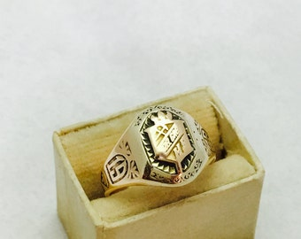 Vintage 10K Gold 1929 Class Ring for Possible Hazel Green High School - Size 6 - 4.5 Grams