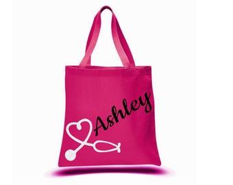 Nurse Bag, Personalized Nurse Tote, Medical Student Bag, Nurse Graduation Gift, Nurse Appreciation Week, RN Bag, Physician Tote