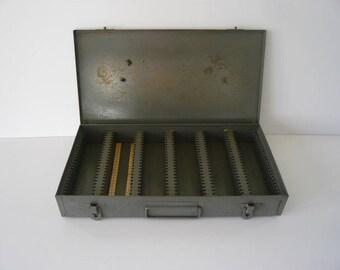 Vintage Metal Case Box for Photo Slides