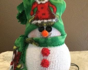 Lighted Snowman Grinch