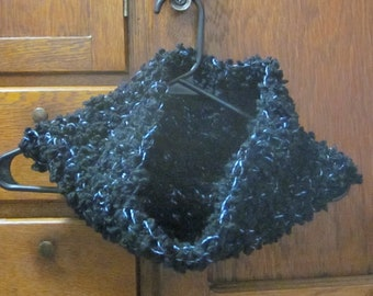 Handmade Cowl Neck Warmer Black and Blue