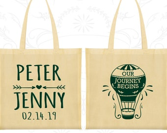 Our Journey Begins, Wedding Bags, Hot Air Balloon Wedding Bags, Wedding Tote Bags (219)