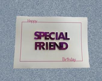 Best Friend Card, Birthday Card, Friend Birthday, Personalised Card, Personalized Card, Custom Card