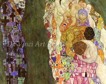The Paintings of Gustav Klimt: Death and Life, 1911. Fine Art Reproduction