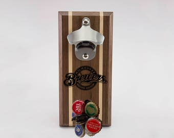 Milwaukee Brewers Magnetic Bottle Opener