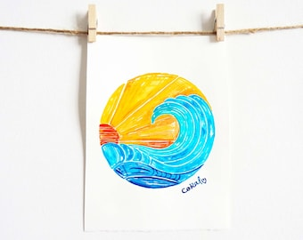 Surf Decor - Beach Art - Surf Style - Colorful Wall Art - Surf No. 3