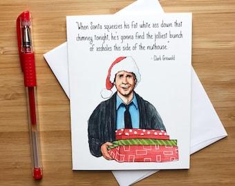 Funny Christmas Card, Christmas Vacation, Chevy Chase, Christmas Ornament, Holiday Card, Funny Xmas Card, Holiday Card, Christmas Humor