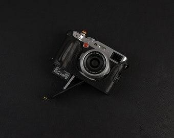 Fujifilm fuji X100F Handmade Half Case Cowhide leather insert Camera bag Protector HandGrip Grip Holster sleeve Tripod mount Battery access