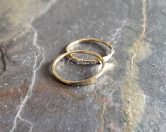 Solid Gold Sleeper Hoop Earring Catchless Hoops, Endless Hoop, Open Hoop Earrings, Small Gold Earring, choose your size, jewelry gift