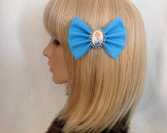 Cinderella hair bow clip rockabilly psychobilly disney princess glass slipper kawaii pin up girl fabric geek Luke girls women