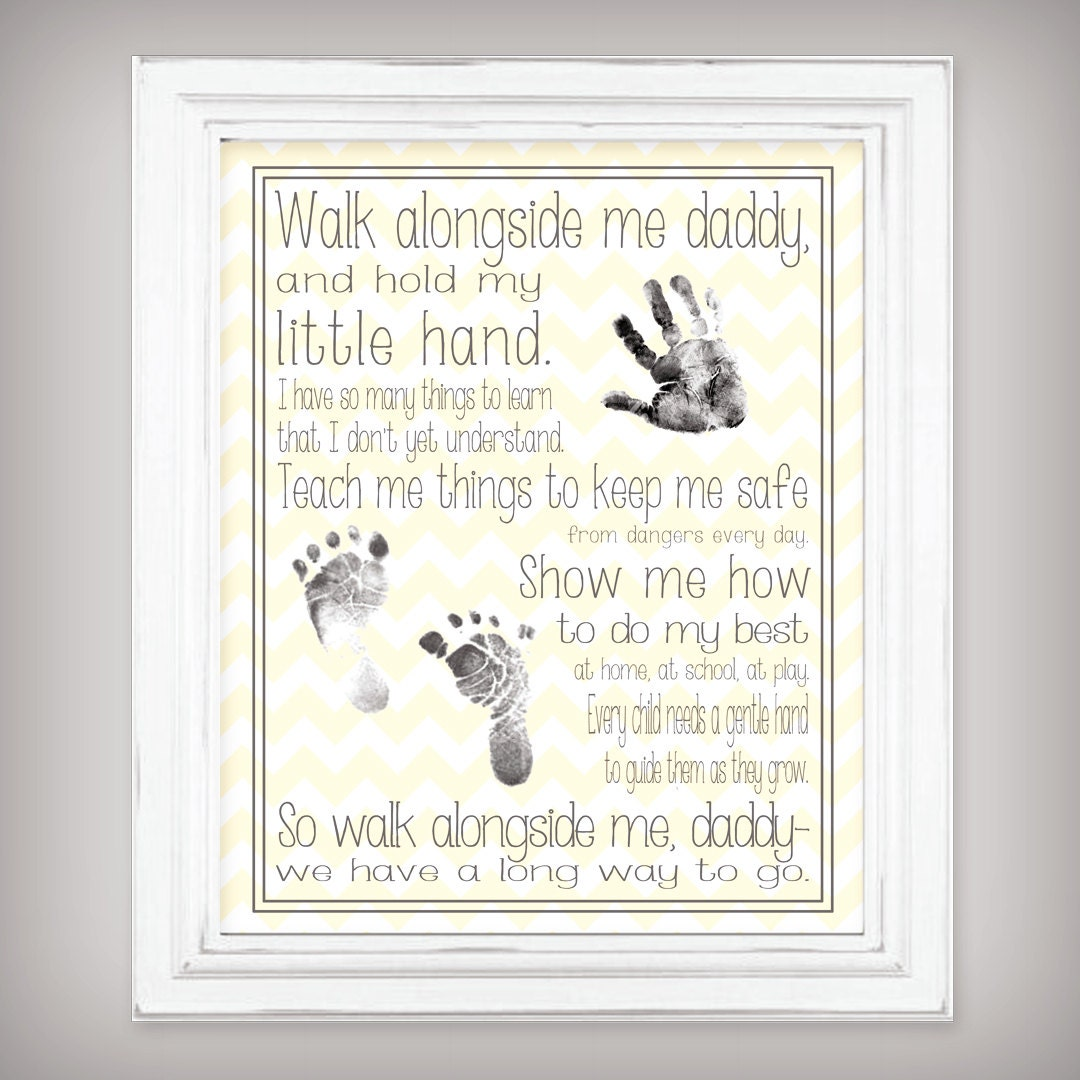 Walk Alongside Me Daddy 11x14 Art Print Personalize With