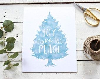 Christmas Printable, Festive Home Decor, Holiday Print, Rustic Christmas Decor, Holiday Decor, Christmas Home Decor, Instant Download