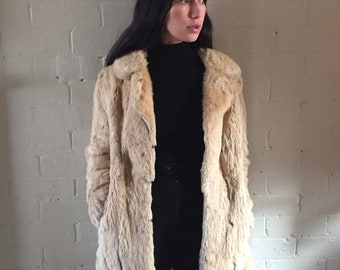 French Rabbit 3/4 Coat
