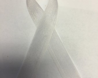 "WHITE Seam Binding 2.0 Ribbon - New Version of Hug Snug - 1/2"" x 100 Yards"