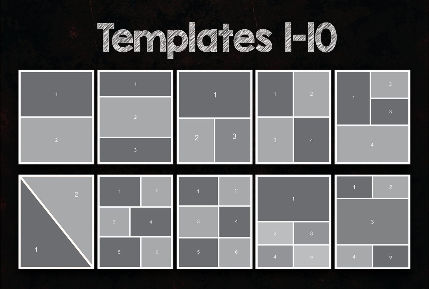 16x20 Photo Collage Templates Pack, 25 PSD Templates, Photoshop ...