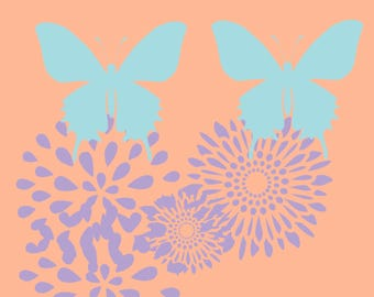 Butterfly Pair on Fireworks Printable 2018