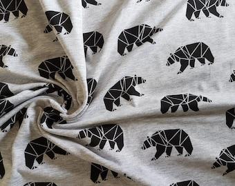 Bears, Cotton Lycra Jersey Knit Fabric