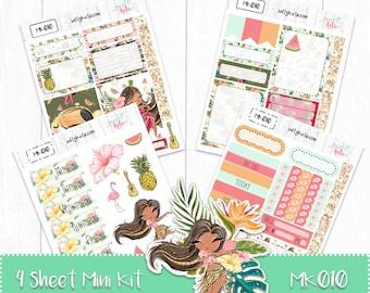 Planner Stickers - Mini Weekly Planner Sticker Kit - Tropical Sticker Kit - Erin Condren Planner Sticker - ECLP Sticker - Summer Sticker Kit