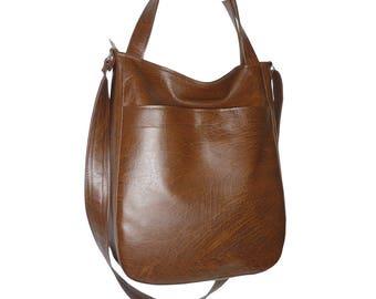 dark brown crossbody bag, dark brown hobo bag, vegan leather crossbody bag, dark brown faux leather, faux leather dark brown, dark brow tote