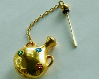 Judith Leiber bejeweled miniature perfume bottle
