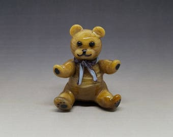 Teddy Bear Handmade Glass Figurine 3