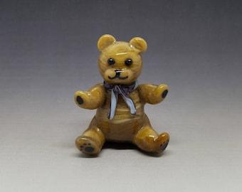 Teddy Bear Handmade Glass Figurine 3