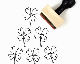 Rubber Stamp Shamrock Four Leaf Clover | Good Luck of the Irish | St Patrick's Day Stamp