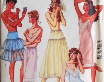 McCall's 3318.  Misses lingerie pattern. Lingerie pattern.  Full slip.  Half Slip.  Camisole and panties. Petticoats.  Size medium.
