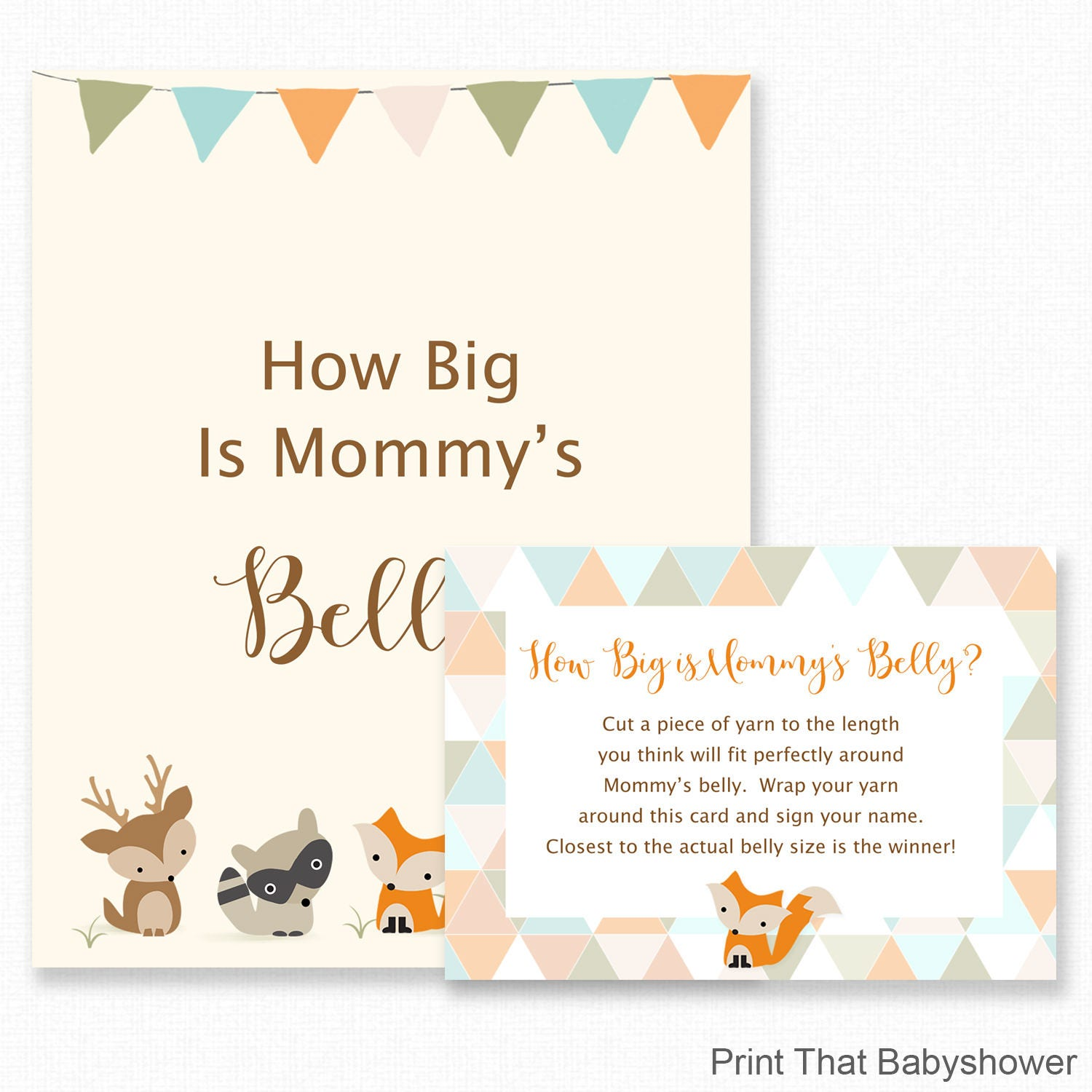 Baby Shower Games How Big Is Mommys Belly Game