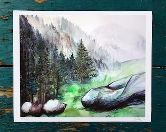 Arapahoe - Extensively hand-embroidered print of original painting - SINGLE EDITION