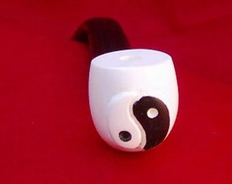 yin yang meerschaum pipe from turkey handcarved FREE SHIPPING WORLWIDE