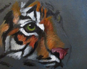 Tiger Eye - original daily painting by Kellie Marian Hil