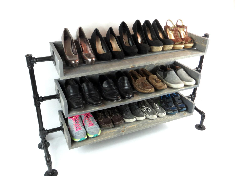 Pipe Shoe Rack Shoes Rack Shoe Organizer Wood Shoe Rack