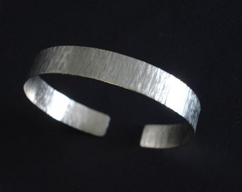 Wide Hammered Silver Cuff Bangle Open Βand Cuff Βracelet Adjustable Handcrafted Metalwork Unisex Handmade Greek Jewelry Gift For Her