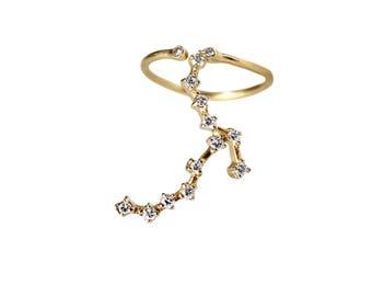 Diamond Zig Zag Cuff Ring