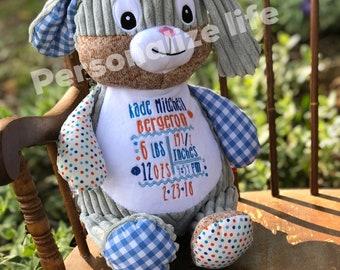 Personalized Stuffed Animal, Monogrammed Stuffed Animal, Monogrammed Cubbie, Monogrammed Bunny, Horse, Deer, Elephant, Dog, Baby Gift