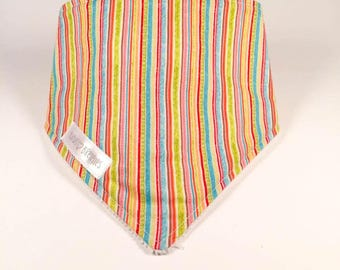 CLEARANCE-bandana bib - Rainbow