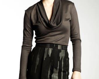 Women's Long Sleeve Cowl Neck