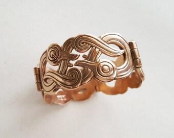 "Kalevala Koru, Vintage Bronze ""Iku-Turso"" Bracelet , Finland (F1362)"
