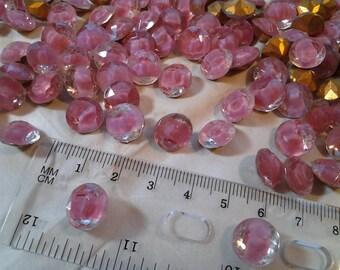 Givre Dentelle 12 mm stones made by Vogue-Vintage foil back Givre stones-Rose color 12mm-stones-new old stock-beautiful vintageKRgivre12R