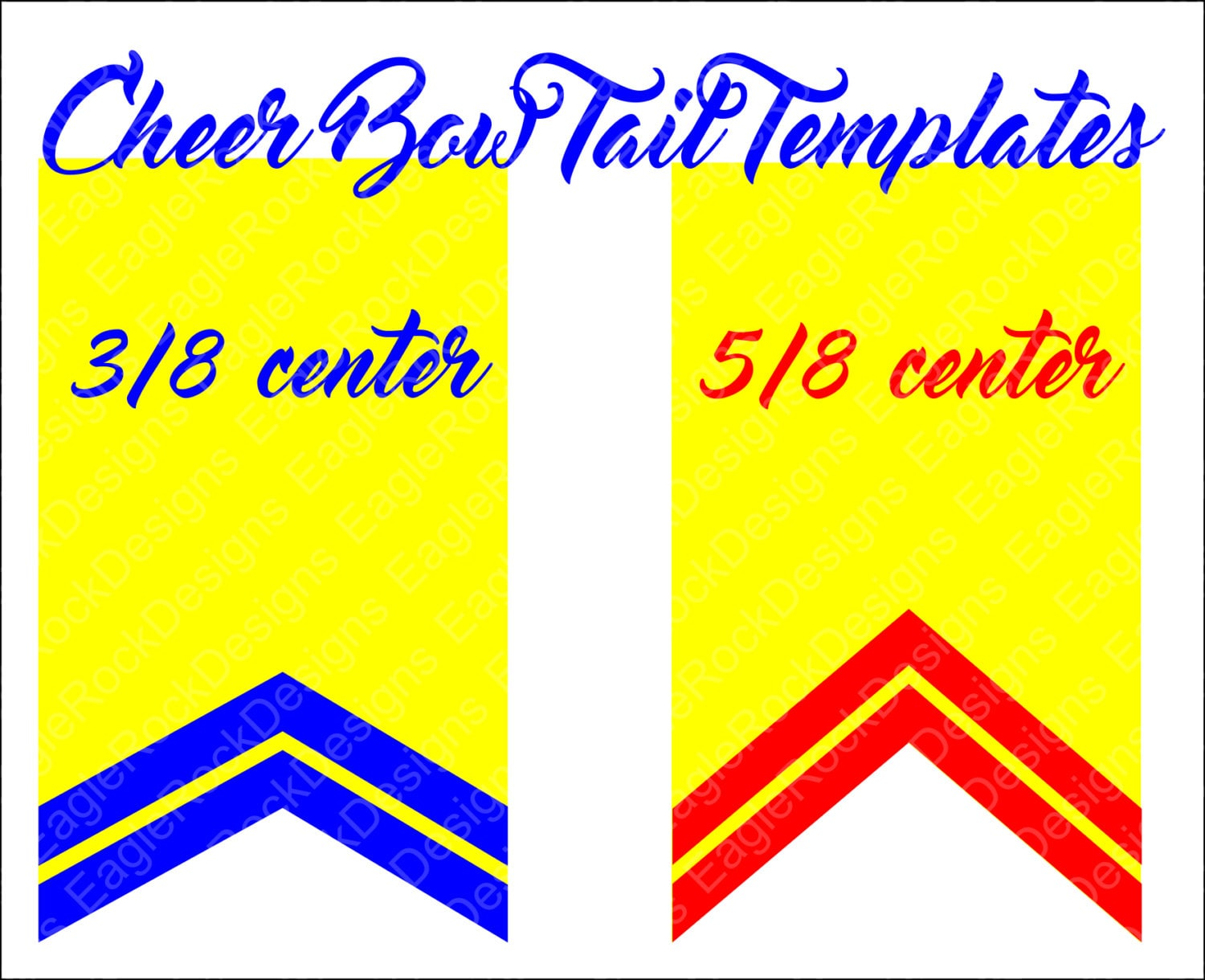 Cheer Bow Tails SVG DXF EPS Cut File for Cameo and